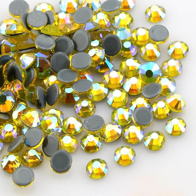Wholesale Hot fix Citrine AB Rhinestones Iron On High Quality  5f2b8420d63d