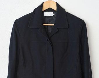 black suit blazer French vintage designer fashion by Patrick Gérard Paris blouson jacket Mike retro clothing for her adult size 2 1990s rare