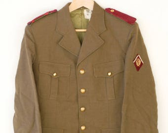 military blazer French vintage workwear jacket fashion collectible UGECO NANTES 1965 midcentury militaria jacket medium made in France c60s