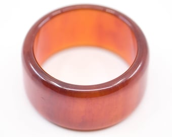 bakelite bangle wide chunky amber bracelet French art deco vintage statement genuine early plastic jewellery for the wrist 1930s tested rare