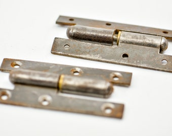 door hinges French vintage metal architectural salvage reclaim hardware DIY home improvement toolbox door restoration fixings matching pair