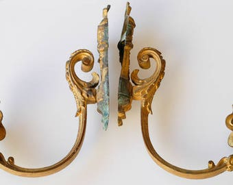 curtain tiebacks french antique drapery hardware gilded bronze architectural metal salvage large heavy home decor for curtains one pair rare