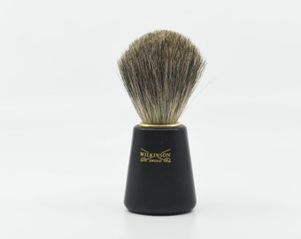 vintage Wilkinson Sword shaving brush wet shave mens grooming bristle brush gift for him personal care collectible made in Germany