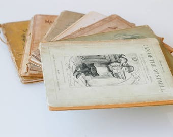 antique book set Juliana Horatia Ewing vintage illustrated storybooks for children hardback fiction literature 1900 7 books collectible rare