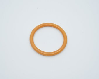bakelite bangle orange swirl vintage spacer bracelet tested midcentury early plastic collectible jewellery French 1950s