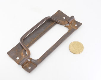 primitive rustic door cabinet pull handle metal salvage French vintage farmhouse hardware for furniture door cabinet drawer restoration rare