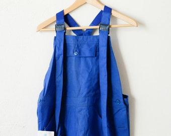 workwear blue overalls french vintage combinaison jumpsuit blue worker chore wear Bugatti 100% cotton midcentury clothing fashion size T2