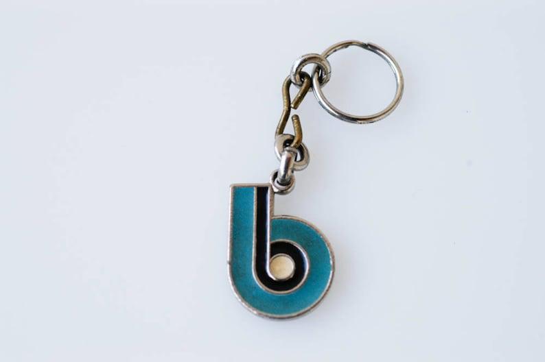 896a46e0d979 Keychain initial b French art deco geometric enamel letter