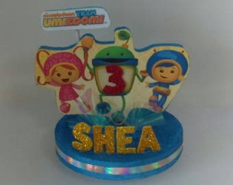 f9d79145947d TEAM UMIZOOMI Themed 3D Cake Topper Centerpiece! Includes Your Child s name   Age!