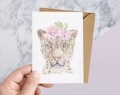 Leopard Wildlife Greeting Card
