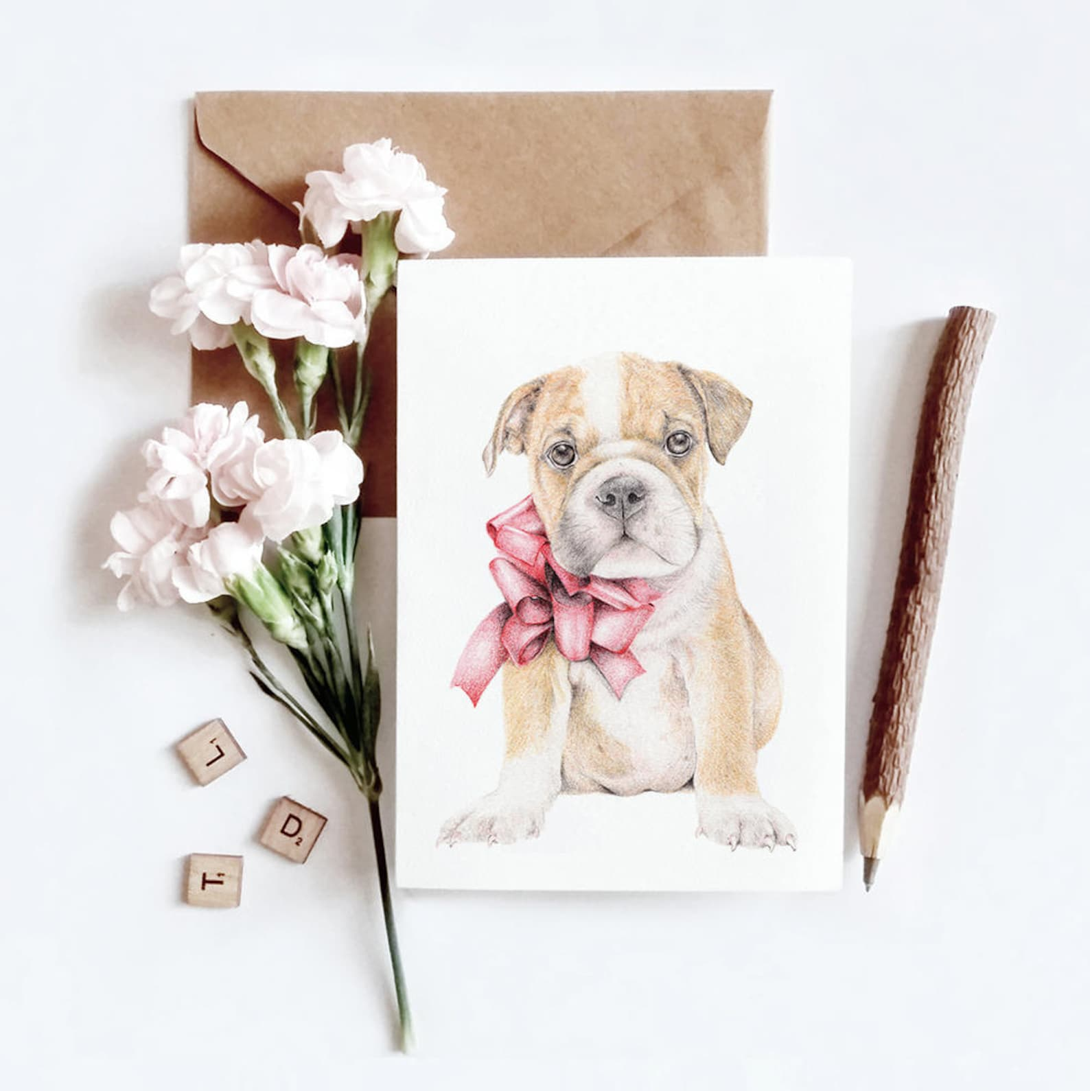 English Bulldog Dog Birthday Card