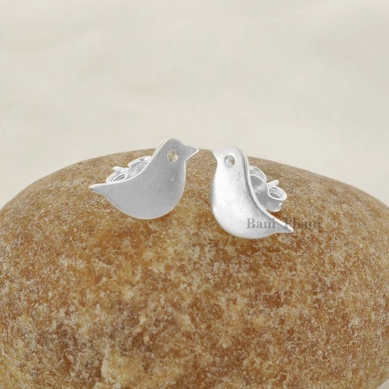 Jewelry-Handcrafted Designer Bird Stud-925 Sterling Silver Earring Jewelry-Gift for Her #1682