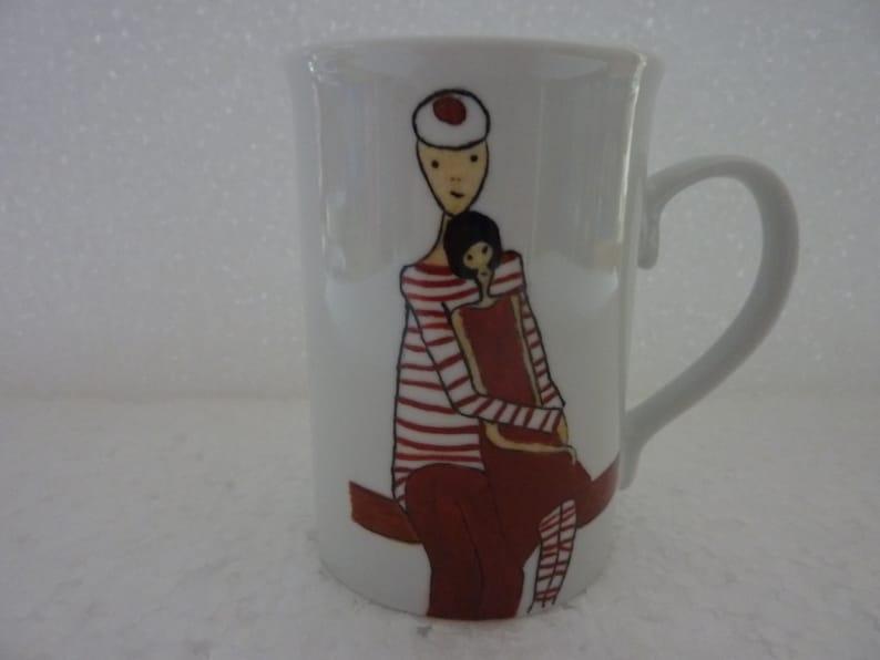 Mug décoré pour enfant les coccinelles et image 0