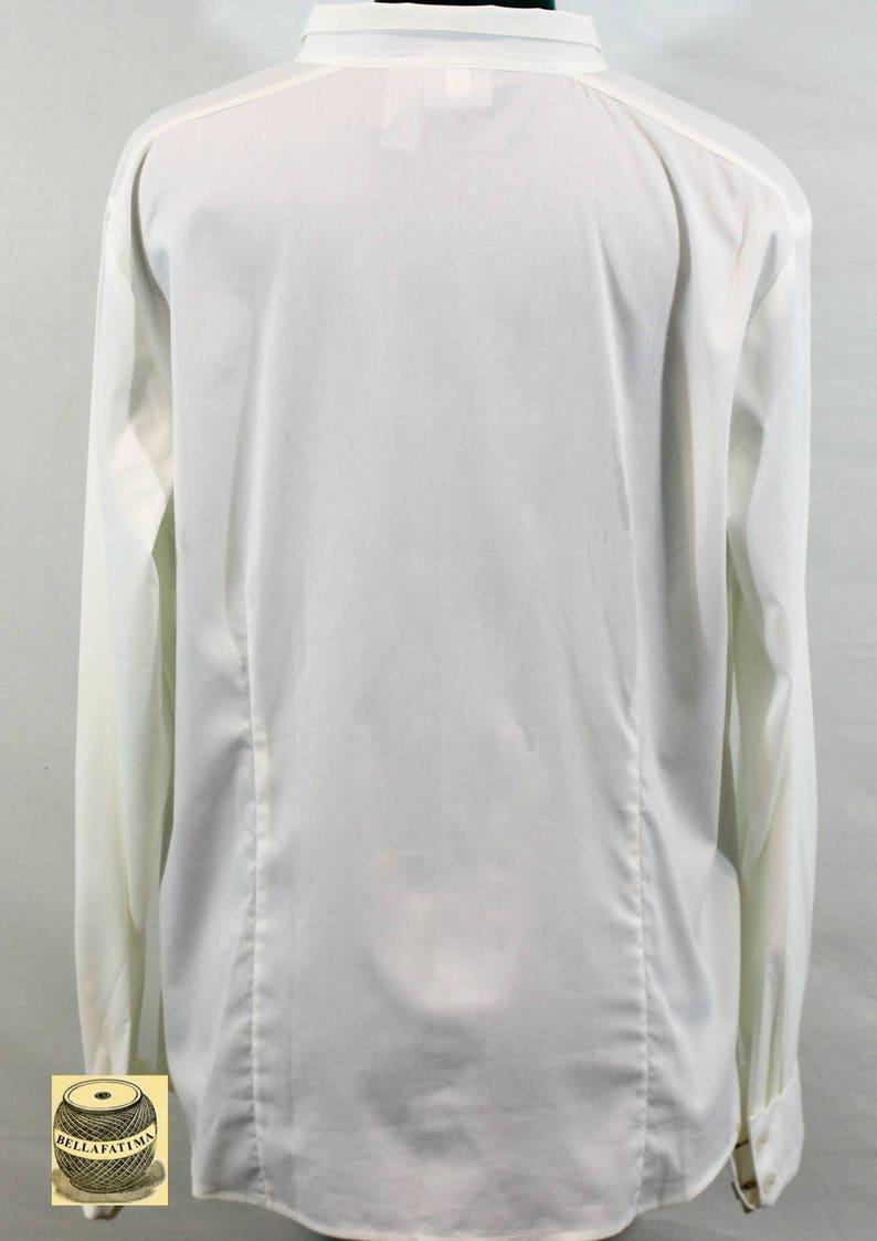 v-neck blouse white top versatile top White Cotton Blend Blouse by Chicos v-neck top cotton top Fall blouse