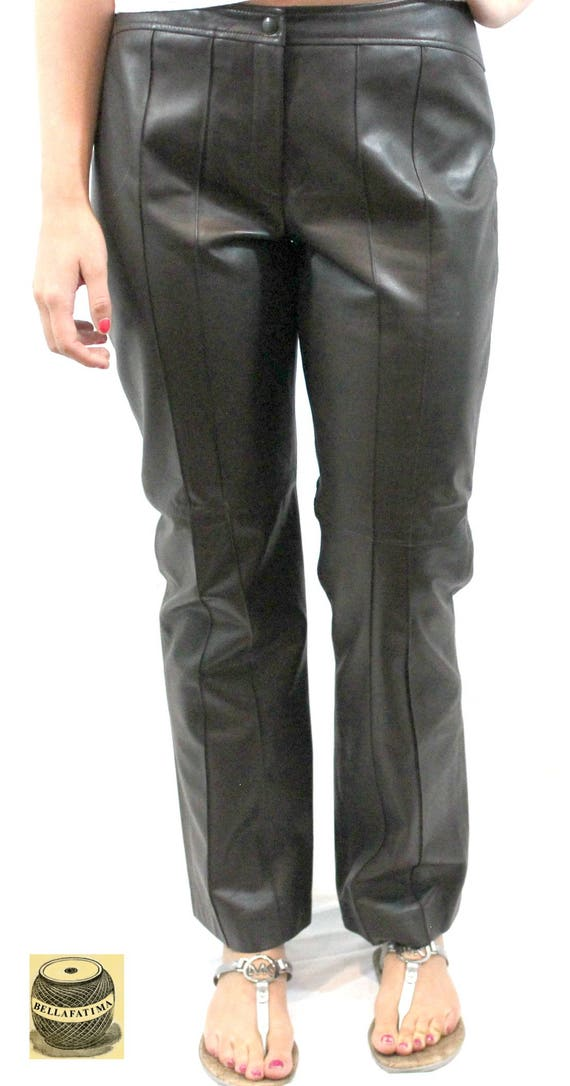 Dark Gray Leather Trousers, fully lined. Fall pant