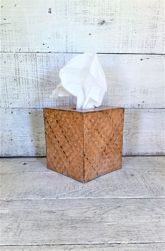 Surprising Tissue Box Cover Tissue Box Holder Wicker Tissue Box Cover Vintage Rattan Tissue Box Holder Bathroom Decor Decorative Tissue Box Cover Download Free Architecture Designs Lectubocepmadebymaigaardcom