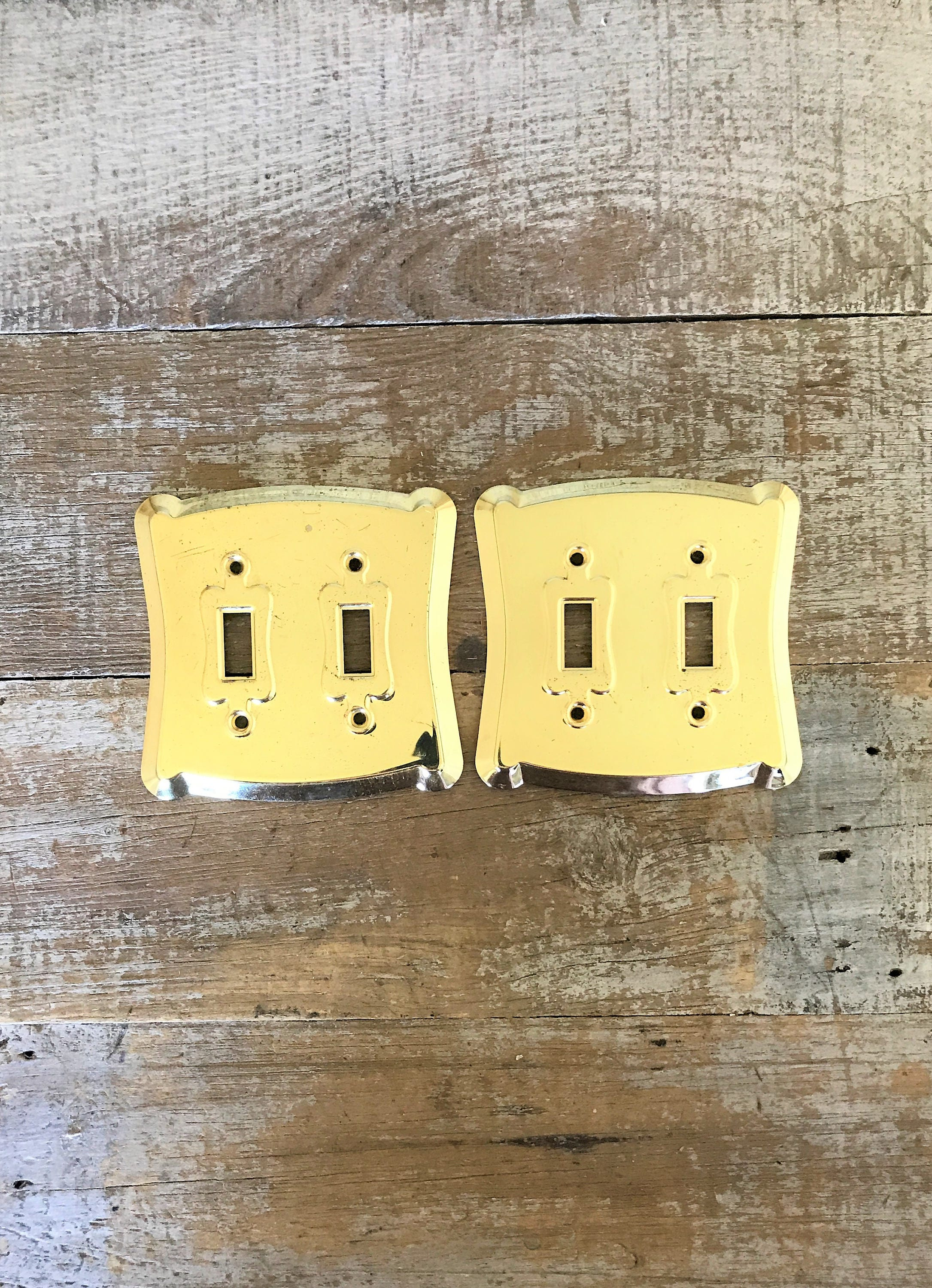 Light Switch Covers 2 Double Lightswitch Plate Mid Century Decor ...