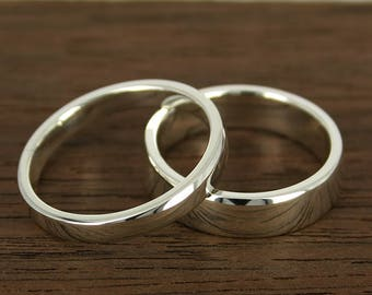 Wedding Ring Gold Classic, white gold wedding ring, 1.6 mm thick, 14 k white gold, Rounded Wedding Band – contemporary – hand made jewelry