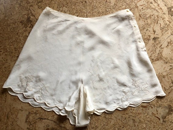 40s Silk Lingerie Shorts