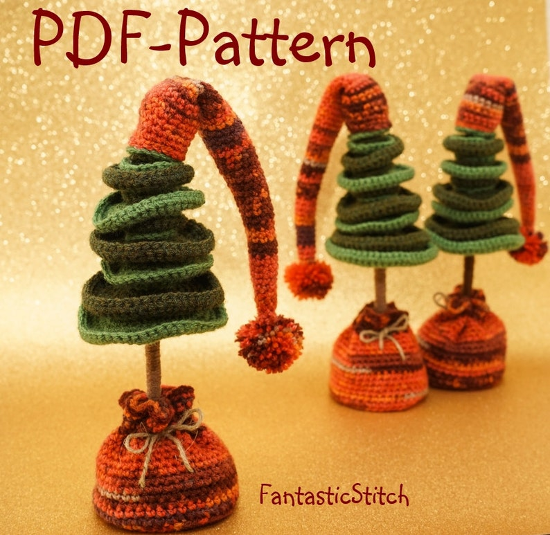 Crochet pattern Christmas Tree Amigurumi Instant Download PDF image 0