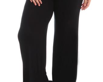 35a2633ac5d6f Stylzoo Women s Plus Size Premium Modal Rayon Softest Ever Palazzo Solid  Stretch Pants