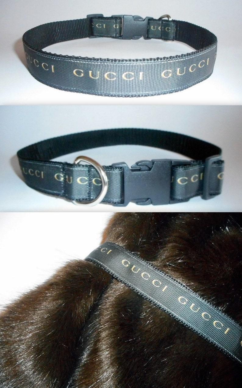 0c8c801b052 DESIGNER DOG COLLAR-Designer Logo Dog Collar-Handmade in