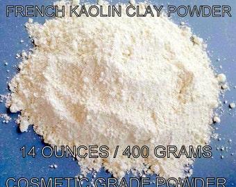 WHITE KAOLIN POWDER - 14 Ounces-French Kaolin Powder-14 ounces-400 Grams of Cosmetic Grade Kaolin Clay Powder