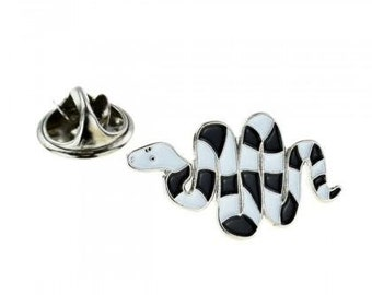 slide Made From English Modern Pewter cuff link cufflink Snake W10 Fine English Modern Pewter on a Tie Clip