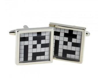 Crossword Puzzle Sudoku Cufflinks  Word Games  Game Night