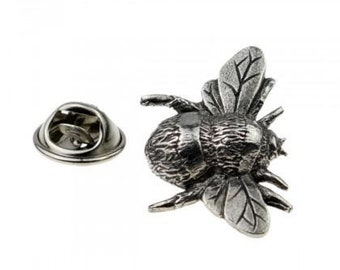 Bee Hive  Honey Small Pewter Pin Badge Brooch UK idea gift for Beekeeper
