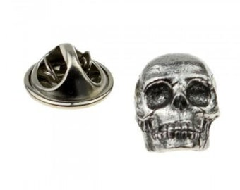 Skull n Crossbones High Quality Pewter Pin Badge with Secure Locking Backs