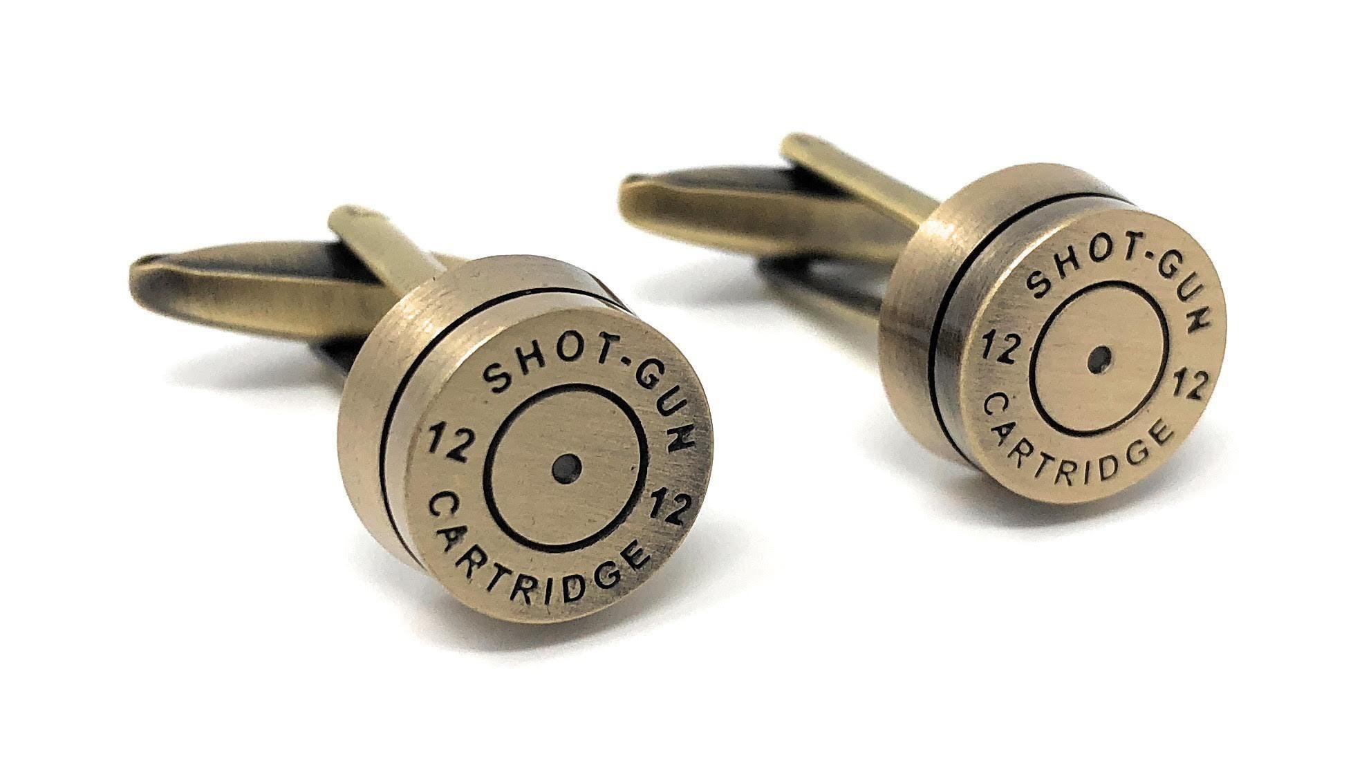 Turquoise Shotgun Cartridge CUFFLINKS Hunter Clay Pigeon BIRTHDAY PRESENT GIFT