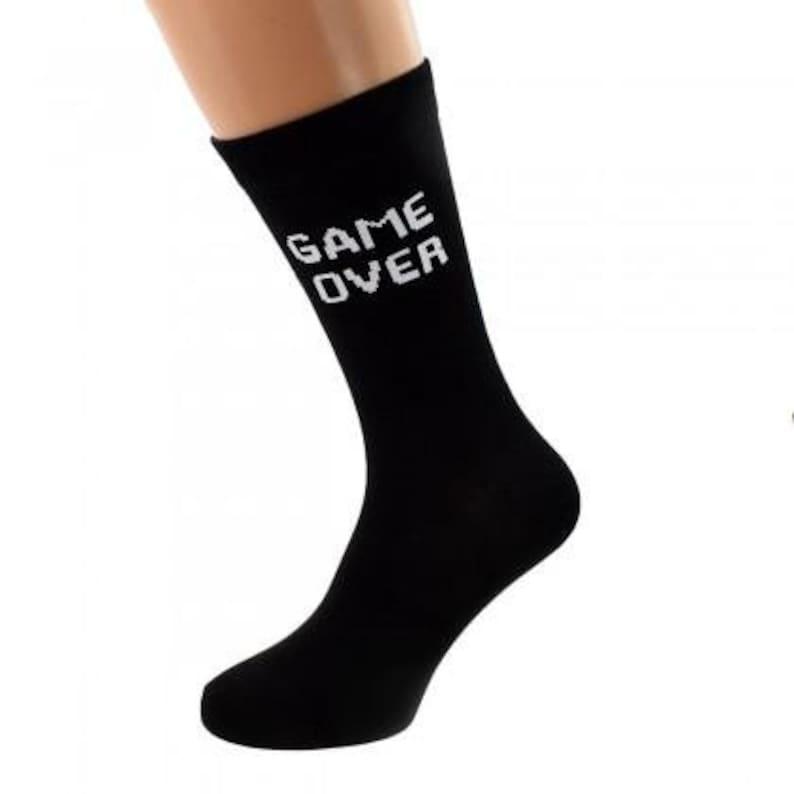 Mens Game Over Black Socks