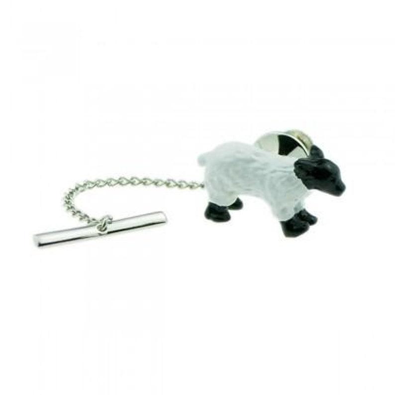 White Sheep Lamb Farm Animal Tie Tack