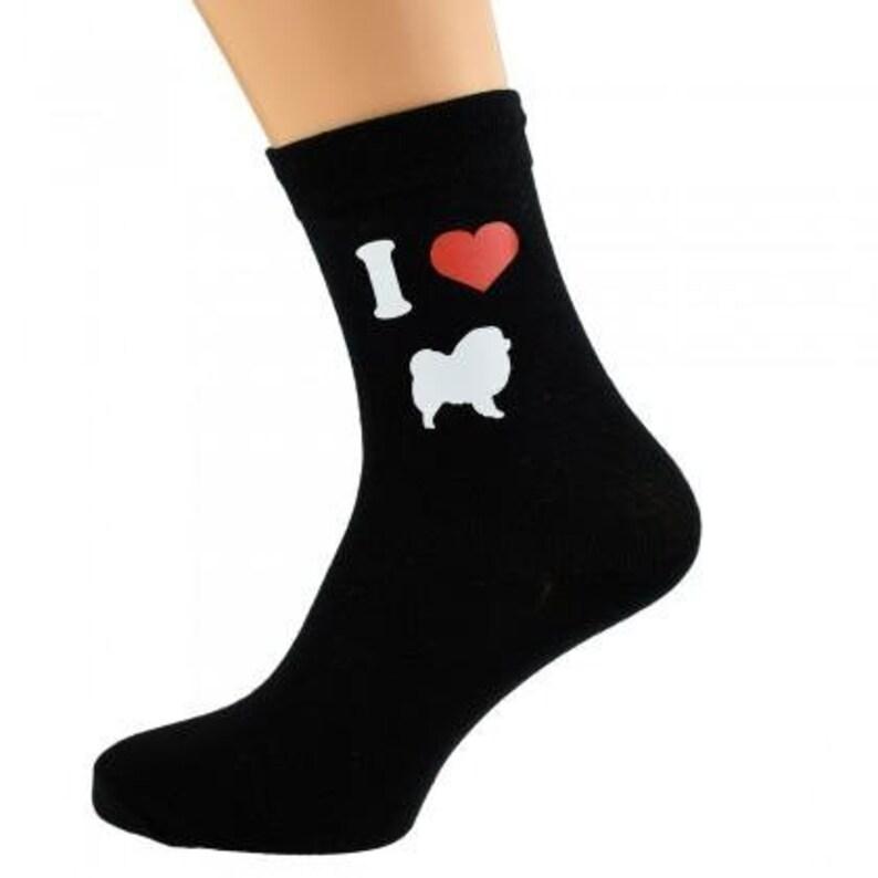I Love Chow Chows Mens Dog Black Socks