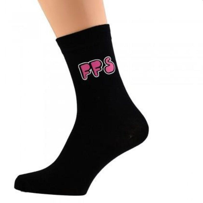 FFS Design Mens Black Socks