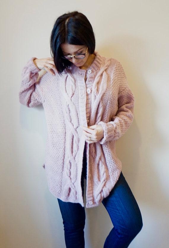 331c25aa3 Baby Alpaca Blend Woman Hand Knitted Cardigan   Coat   Light