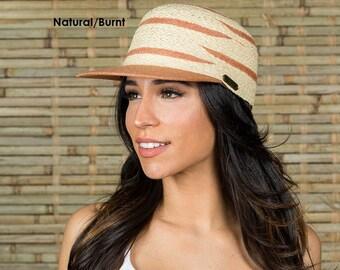 63745aa05c3 Women s Raffia Straw Cap Summer Travel Vacation Packable Sun hat