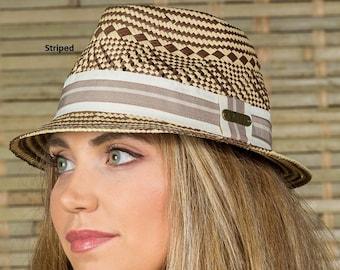 Hatch Hats Women s Straw Sunhat Summer Travel Vacation Packable Gambler  Safari Fedora Hat 10e6a355689b