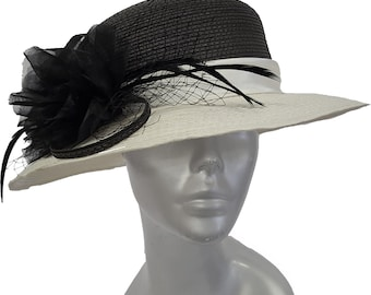 4409cf3a378 Swan Hat Polyester Braid Year Around Dressy Cloche Hat with
