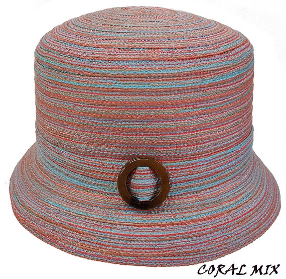 94985ac5452 Swan Hat Summer Paper Braid Woven Bucket Cloche Casual Hats