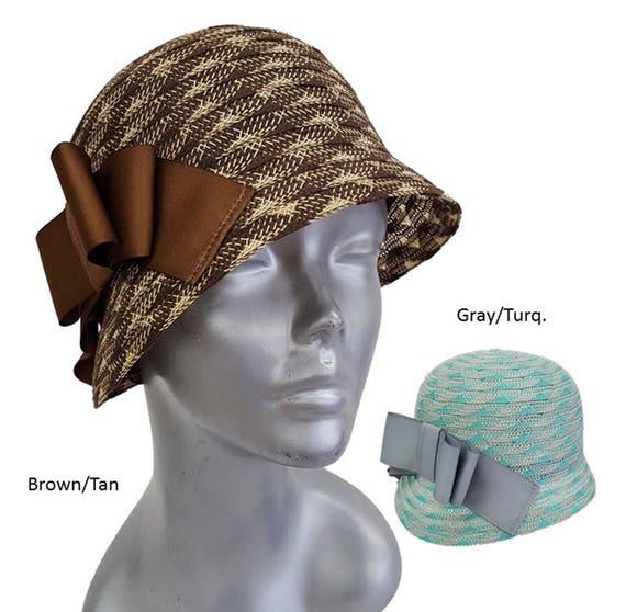 Women s hat fall-winter 100% wool felt adjustable packable  bb3275a0cf84
