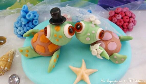 Wedding cake topper. Love Sea Turtles. Turtles wedding Cake   Etsy