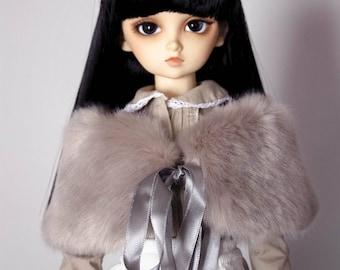 Elegant faux beaver fur shawl for Sd10-Sd13 girls