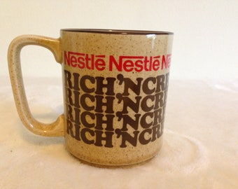 Vintage Nestle Rich'N Creamy Hot Cocoa Mug Cup Made in Japan