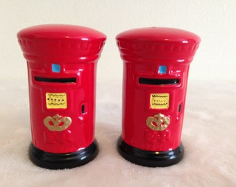 Vintage British EPL Post Office Salt and Pepper Shakers
