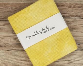 14ct Hand-dyed Zweigart Aida - Mustard
