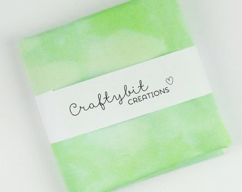 Hand dyed Mottled Quilt Cotton Fabric - Green