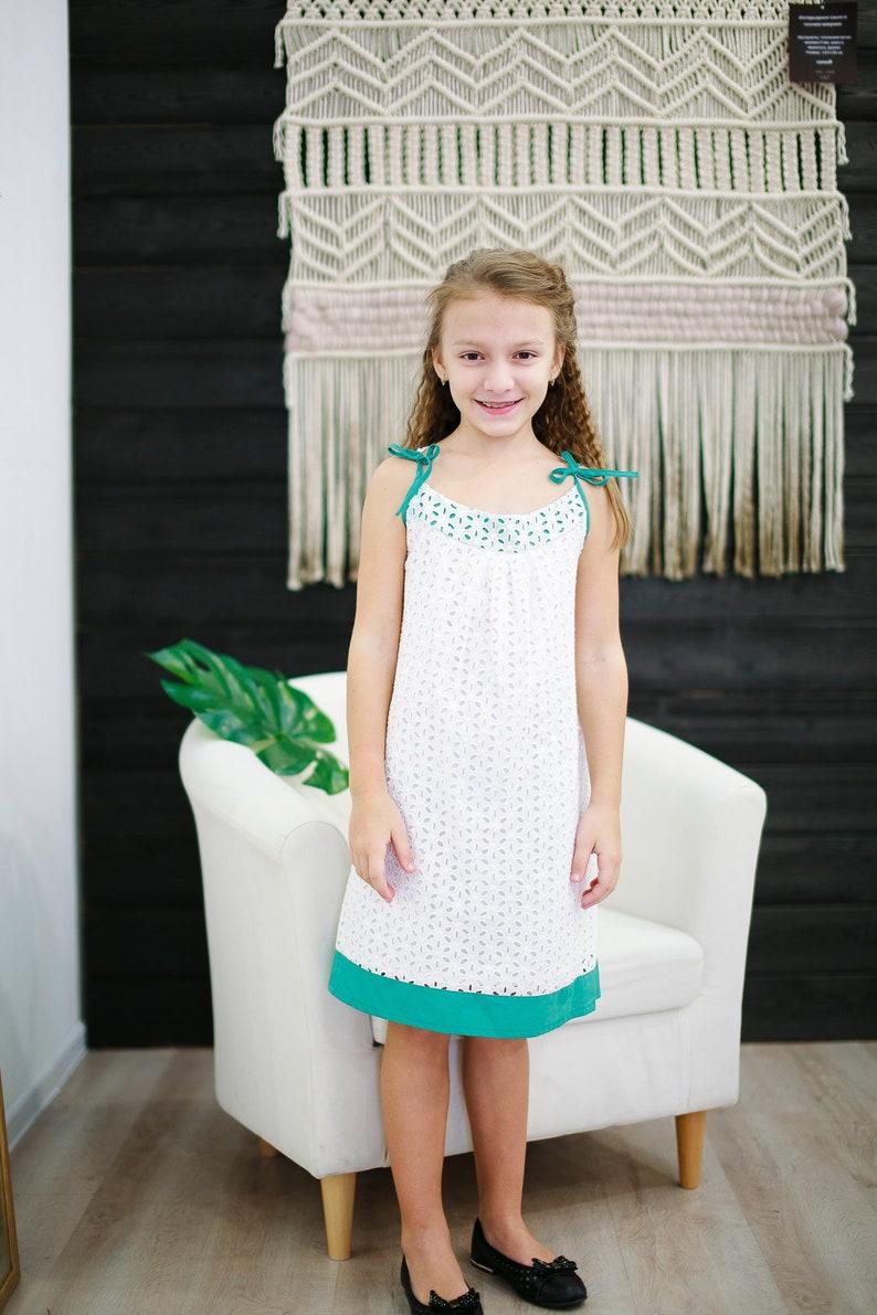 b641feaba417 White sundress toddler boho dress Baptism dress | Etsy