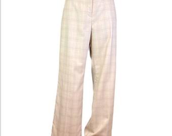 NWT Pendleton Beige Plaid Madison Trousers 16